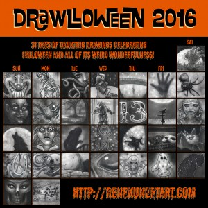 Drawlloween 2016 - One sketchcard per day for the entirety of October.